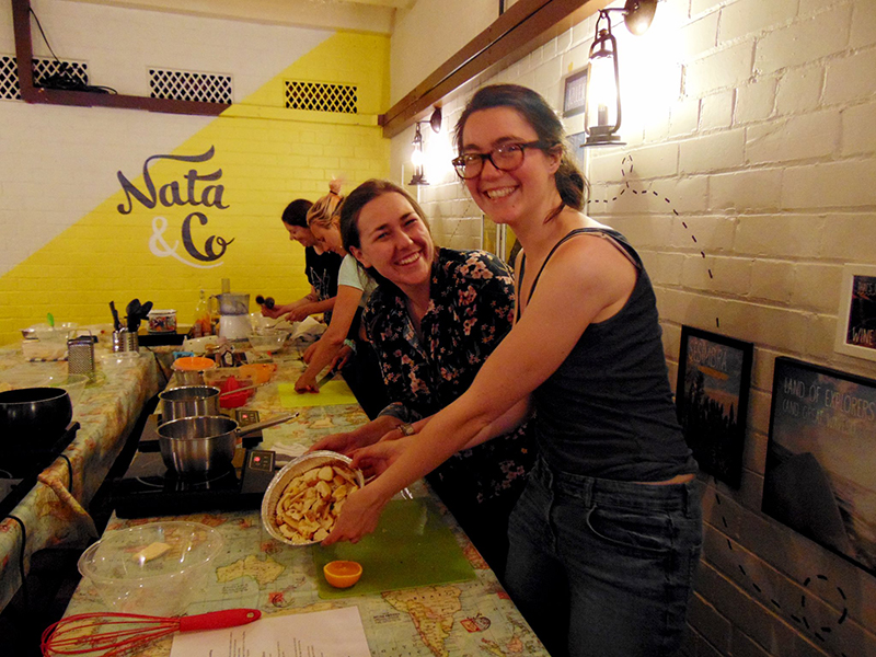 Getting stuck in with Green Squirrel Supper Club Workshops