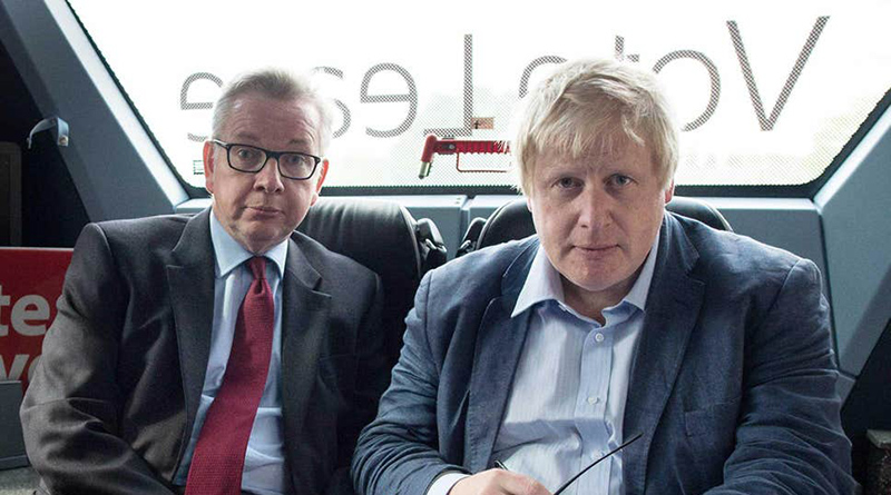 Michael Gove (left) and Boris Johnson