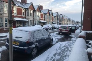 Snow in Cardiff