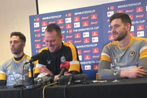 A press conference at Newport County AFC