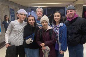 Cardiff protesters meet environmental activist Greta Thunberg