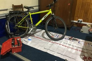 The repair cafe mends things like bikes for free