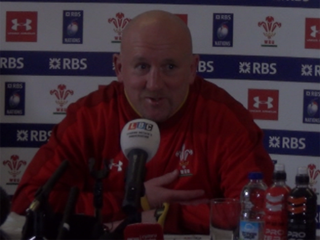 Shaun Edwards addressed the media at the Vale Hotel ahead of Saturday's match away to Scotland