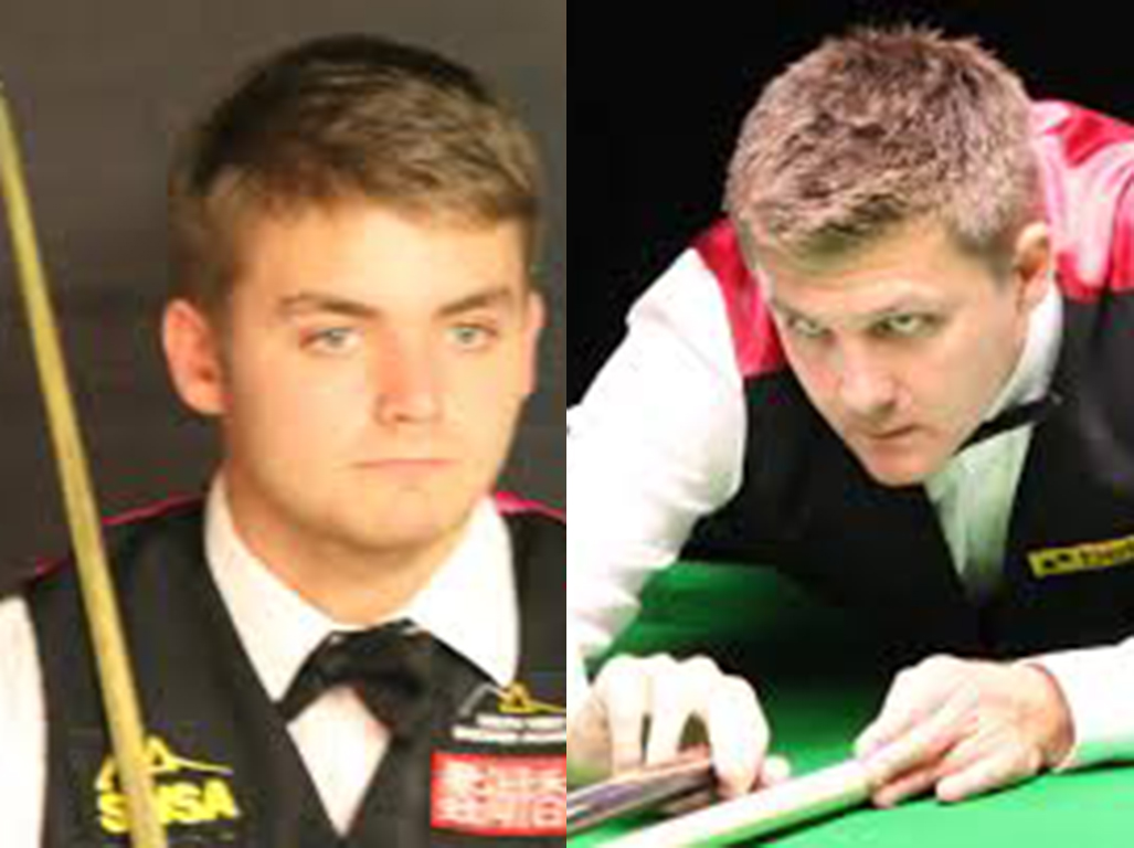 Michael White (left) and Ryan Day (right) will face off in an all-Welsh last 16 clash.