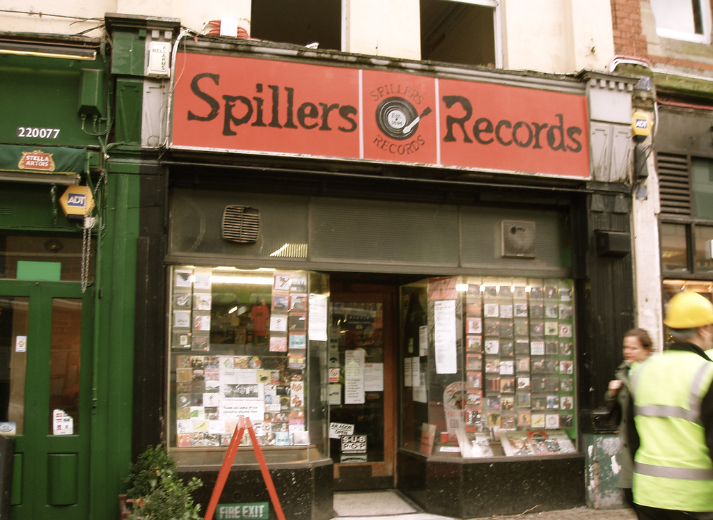 Spillers Records, the world's oldest record shop, at its former location in The Hayes