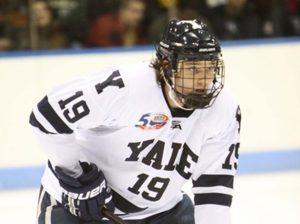 Denny Kearney playing for Yale University.