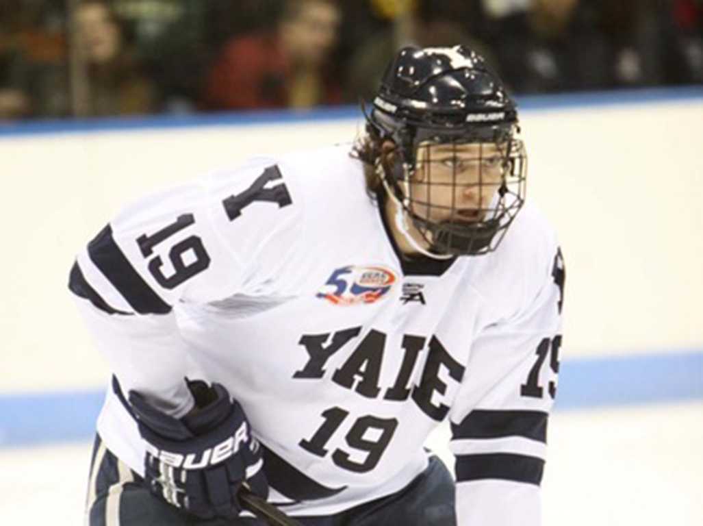 Denny Kearney playing for Yale University.
