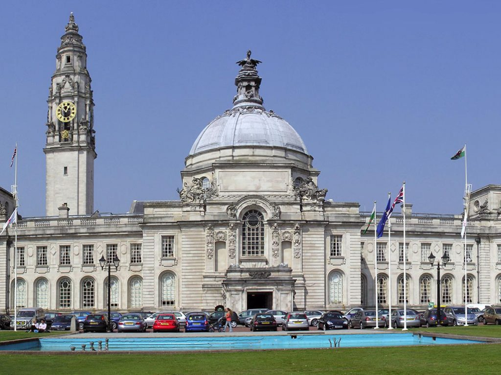 Cardiff City Hall, where last night's meeting took place.