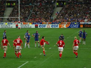 James Hook kicks to touch in the 2007 match, a rare defeat in Paris for Wales