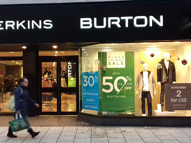 Sales on the Cardiff High Street