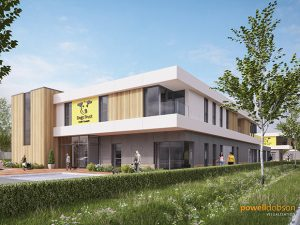 An artist's impression of the new Dogs Trust Rehoming Centre