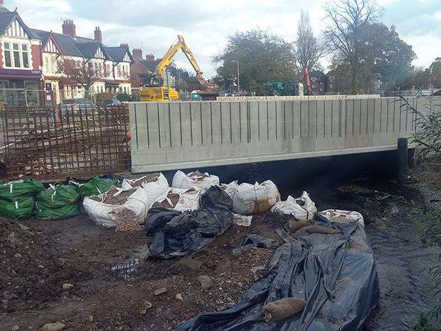 Progress on bridge at Waterloo Gardens