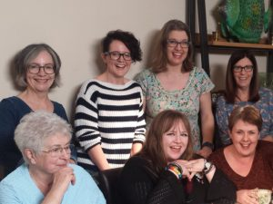 Birchgrove Women's Institute Committee prepare for their first meeting of the year