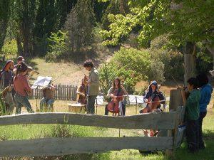 Patagonia school playing music