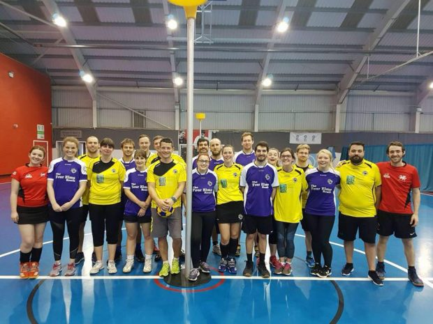 Cardiff Korfballers: The whole Raptors team
